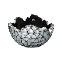 Кашпо shell bowl mother of pearl silver-blue d70 h36 см