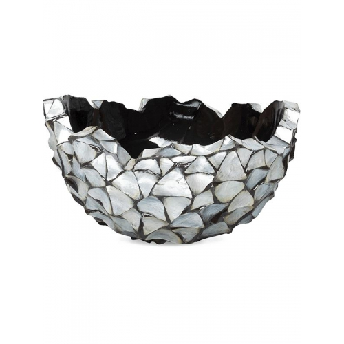 Кашпо shell bowl mother of pearl silver-blue d60 h33 см