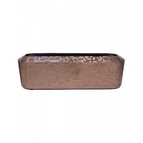 Кашпо pixel table top planter copper l100 w30 h30 см