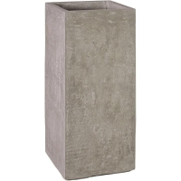 Кашпо division plus planter natural-concrete l35 w35 h80 см