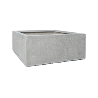 Кашпо division plus square natural-concrete l100 w100 h40 см