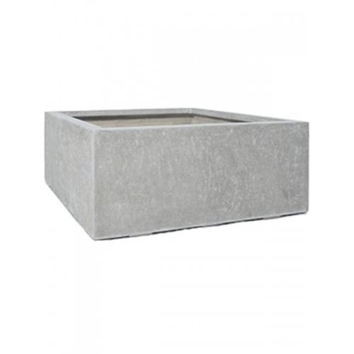 Кашпо division plus square natural-concrete l100 w100 h40 см
