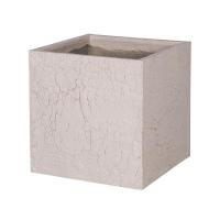 Кашпо fiberstone earth block l sundried white l50 w50 h50 см