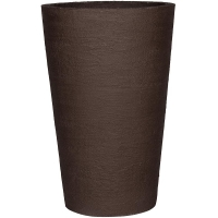 Кашпо fiberstone earth belle xxl dark brown d100 h150 см