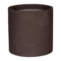 Кашпо fiberstone earth max l dark brown d50 h50 см