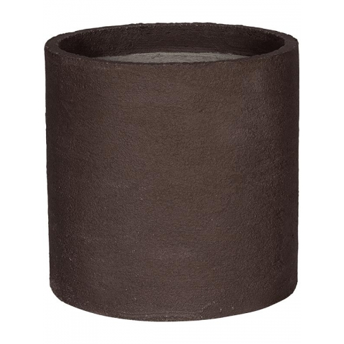 Кашпо fiberstone earth max l dark brown d50 h50 см