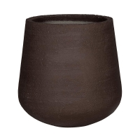 Кашпо fiberstone earth pax xl dark brown d66 h67 см