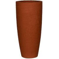Кашпо fiberstone earth dax l desert red d37 h80 см