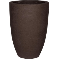 Кашпо fiberstone earth ben xl dark brown d52 h71 см