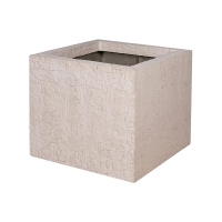 Кашпо fiberstone earth jumbo m sundried white l70 w70 h62 см
