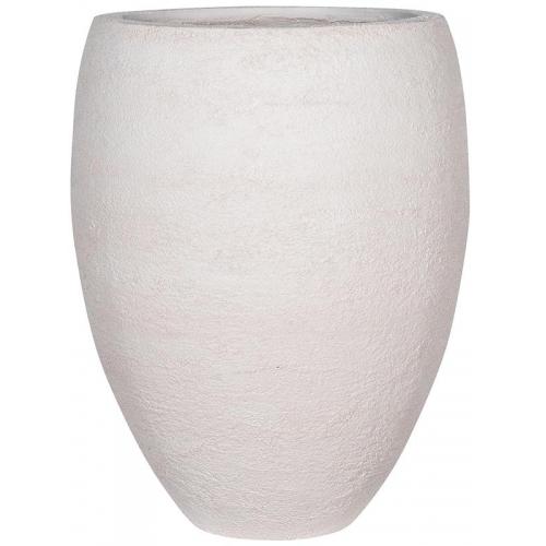 Кашпо fiberstone earth bond l off white d68 h85 см