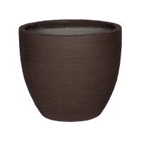 Кашпо fiberstone earth jesslyn m dark brown d60 h52 см