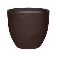 Кашпо fiberstone earth jesslyn l dark brown d70 h61 см