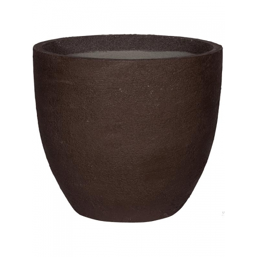Кашпо fiberstone earth jesslyn l dark brown d70 h61 см