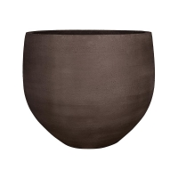 Кашпо fiberstone earth jumbo orb l dark brown d133 h114 см