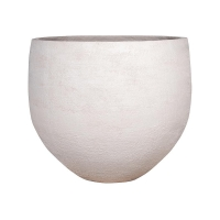 Кашпо fiberstone earth jumbo orb l off white d133 h114 см
