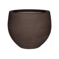 Кашпо fiberstone earth jumbo orb s dark brown d87 h73 см