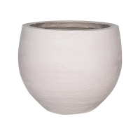 Кашпо fiberstone earth jumbo orb s off white d87 h73 см