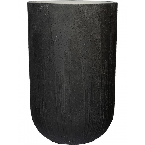Кашпо raw cody high l burned black d44 h68 см