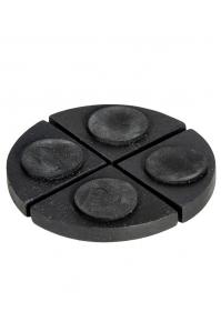 Подножки fiberstone accessoires pot feet black (4) h2 см