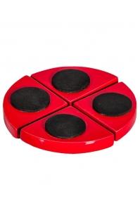 Подножки fiberstone accessoires glossy red pot feet (4) h2 см