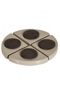 Подножки fiberstone accessoires glossy sand pot feet (4) h2 см