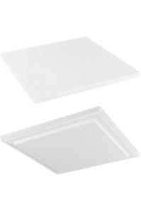 Подставка fiberstone accessoires glossy white topper s (thin) l25 w25 h2 см
