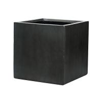 Кашпо fiberstone block antique grey l40 w40 h40 см
