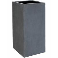 Кашпо fiberstone bouvy grey xl l50 w50 h100 см