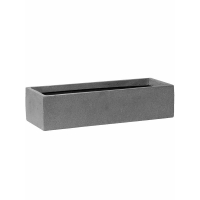Кашпо fiberstone balcony slim low grey l40 l40 w15 h10 см