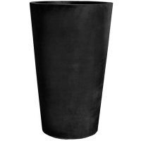 Кашпо fiberstone black belle xl d77 h120 см