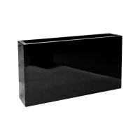 Кашпо fiberstone glossy black jort slim s l91 w20 h50 см