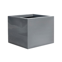Кашпо fiberstone glossy grey jumbo without feet l l90 w90 h82 см