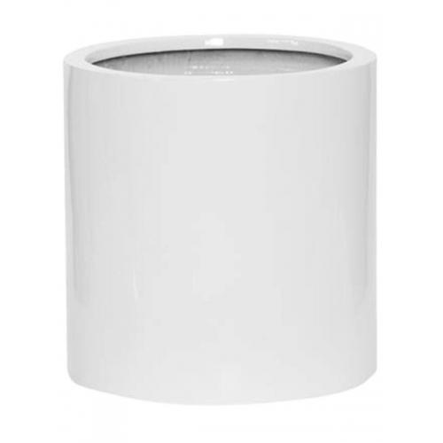 Кашпо fiberstone glossy white max s d30 h30 см