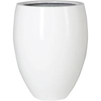 Кашпо fiberstone glossy white bond l d68 h85 см