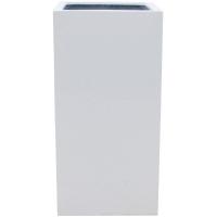 Кашпо fiberstone glossy white bouvy l40 w40 h80 см