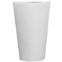 Кашпо fiberstone glossy white belle xxl d100 h150 см