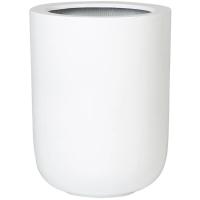 Кашпо fiberstone glossy white dice l d34 h44 см