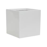 Кашпо fiberstone glossy white fleur l l25 w25 h25 см
