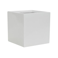 Кашпо fiberstone glossy white fleur s l15 w15 h15 см