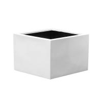 Кашпо fiberstone glossy white jumbo middle high xxl l140 w140 h90 см