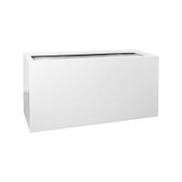 Кашпо fiberstone glossy white jort l l120 w45 h60 см
