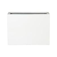 Кашпо fiberstone glossy white jort l l95 w38 h72 см
