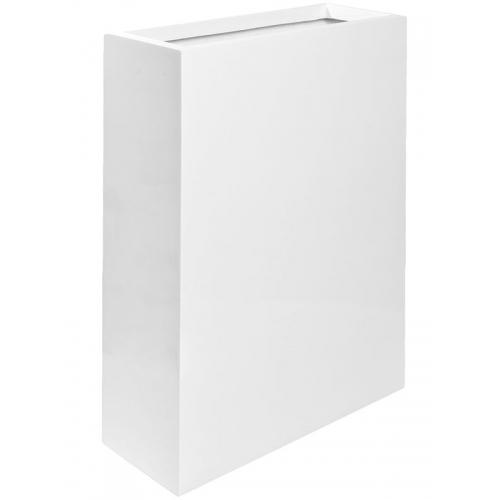 Кашпо fiberstone glossy white jort slim m l61 w25 h81 см