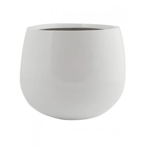 Кашпо fiberstone glossy white kevan m d26 h22 см