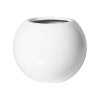 Кашпо fiberstone glossy white beth xs d26 h21 см