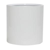 Кашпо fiberstone glossy white puk m d20 h20 см