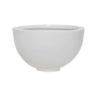 Кашпо fiberstone glossy white peter m d30 h18 см