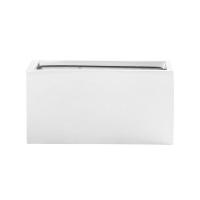 Кашпо fiberstone glossy white rectangular balcony xs l40 w20 h20 см