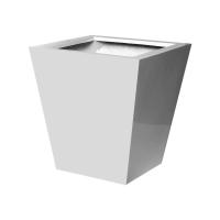 Кашпо fiberstone glossy white jumbo thom xl l110 w110 h150 см